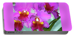 Many Purple Orchids Portable Battery Charger by Lehua Pekelo-Stearns