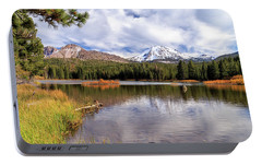 Portable Battery Charger featuring the photograph Manzanita Lake - Mount Lassen by James Eddy