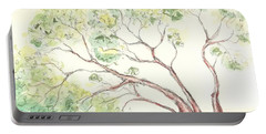 Portable Battery Charger featuring the painting Manzanita Tree by Maria Langgle