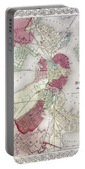Map: Boston, 1865 Portable Battery Charger