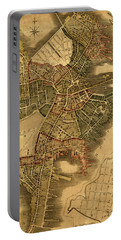 Map Of Boston 1814 Portable Battery Charger by Andrew Fare