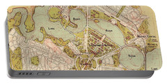 Map Of Canberra 1913 Portable Battery Charger by Andrew Fare