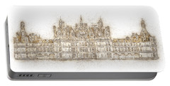 Map Of The Castle Chambord Portable Battery Charger by Anton Kalinichev