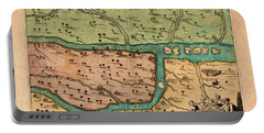 Map Of Iraq 1680 Portable Battery Charger by Andrew Fare