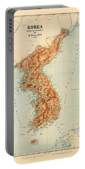 Map Of Korea 1903 Portable Battery Charger by Andrew Fare
