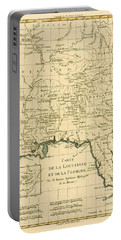 Map Of Louisianna And Florida Portable Battery Charger