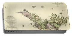 Map Of Saint Barts 1801 Portable Battery Charger