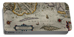 Map Of Sweden 1606 Portable Battery Charger by Andrew Fare
