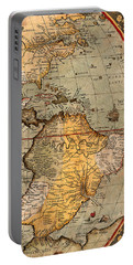 Map Of The Americas 1570 Portable Battery Charger by Andrew Fare