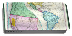 Map Of The Gold Regions Of California Portable Battery Charger
