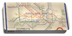Map Of The London Underground - London Metro - 1933 - Historical Map Portable Battery Charger