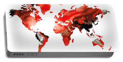 Map Of The World 10 -colorful Abstract Art Portable Battery Charger