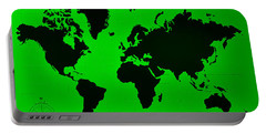Portable Battery Charger featuring the photograph Map Of The World Green by Rob Hans