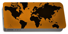 Portable Battery Charger featuring the photograph Map Of The World Orange by Rob Hans