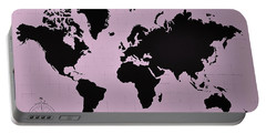 Portable Battery Charger featuring the photograph Map Of The World Pink by Rob Hans