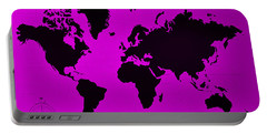 Portable Battery Charger featuring the photograph Map Of The World Purple by Rob Hans