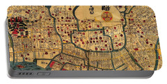 Map Of Tokyo 1845 Portable Battery Charger by Andrew Fare