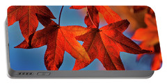 Maple Leaves In The Fall Portable Battery Charger