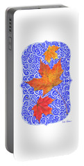 Portable Battery Charger featuring the digital art Maple Leaves by Lise Winne