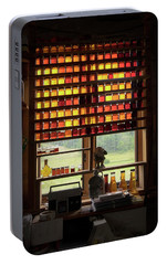 Portable Battery Charger featuring the photograph Maple Syrup Window by Tom Singleton