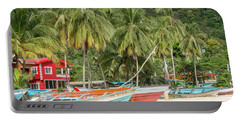 Portable Battery Charger featuring the photograph Maracas Fishing Village by Rachel Lee Young