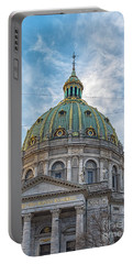 Portable Battery Charger featuring the photograph Marble Church In Copenhagen by Antony McAulay