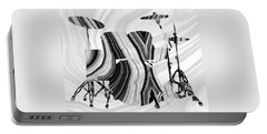 Marbled Music Art - Drums - Sharon Cummings Portable Battery Charger by Sharon Cummings