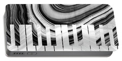 Marbled Music Art - Piano Keys - Sharon Cummings Portable Battery Charger