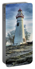 Portable Battery Charger featuring the painting Marblehead Lighthouse by Christopher Arndt