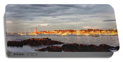 Portable Battery Charger featuring the photograph Marblehead Neck From Fort Beach by Jeff Folger