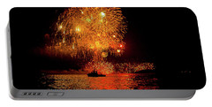 Portable Battery Charger featuring the photograph Marblehead Fireworks by Jeff Folger