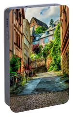 Portable Battery Charger featuring the photograph Marburg Alley by David Morefield