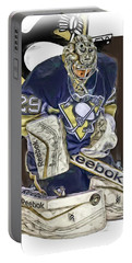 Marc Andre Fleury Pittsburgh Penguins Oil Art Portable Battery Charger