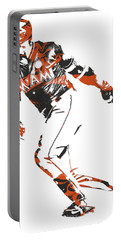 Marcell Ozuna Miami Marlins Pixel Art 1 Portable Battery Charger