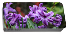 March Hyacinths Portable Battery Charger