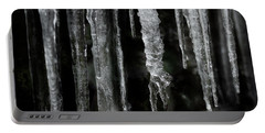 Portable Battery Charger featuring the photograph March Icicles by Mike Eingle