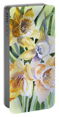 March Of Daffodils Portable Battery Charger