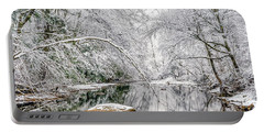 March Snow Along Cranberry River Portable Battery Charger by Thomas R Fletcher