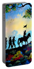 Marching At Daybreak Portable Battery Charger