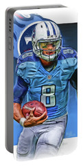 Marcus Mariota Tennessee Titans Oil Art Portable Battery Charger