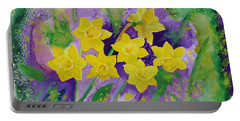 Mardi Gras Daffodils Portable Battery Charger