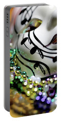 Mardi Gras I Portable Battery Charger by Trish Mistric