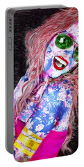Mardi Gras Lady Portable Battery Charger