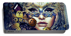 Mardi Gras Mask Portable Battery Charger
