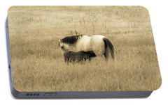 Portable Battery Charger featuring the photograph Mare And Foal  by Dawn Romine