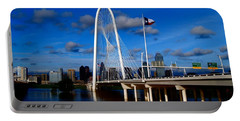 Margaret Hunt Hill Bridge Dallas Flood Portable Battery Charger