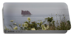 Margaret Todd Sailing On A Foggy Evening Portable Battery Charger by Living Color Photography Lorraine Lynch