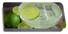 Portable Battery Charger featuring the photograph Margarita Close Up by Teri Virbickis