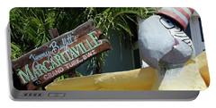Margaritaville Sign Turks And Caicos Portable Battery Charger by Melinda Saminski
