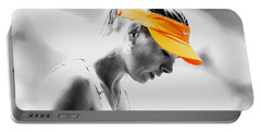 Maria Sharapova Stay Focused Portable Battery Charger by Brian Reaves
